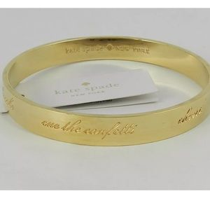 New Kate Spade bride idiom gold bangle bracelet